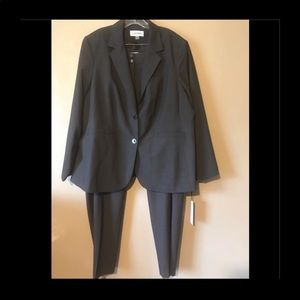 Calvin Klein charcoal gray business suit size 20W